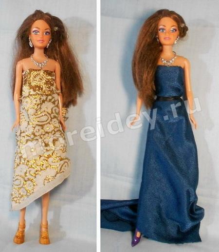 Игра с куклой Барби показ мод