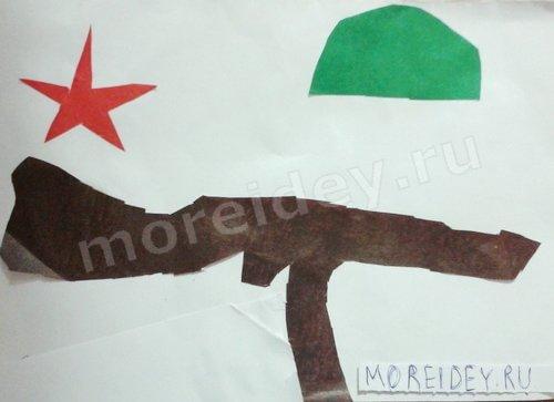 Детская поделка аппликация ко Дню Победы 9 мая в детский сад
