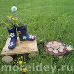 Садовые цветочные композиции «Черепашкин сад» и «Пуховая опушка»