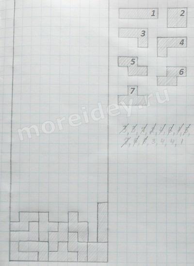 Как играть в тетрис на бумаге (2 варианта)