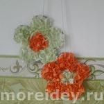 Цветочки из гофрированной бумаги для украшения интерьера