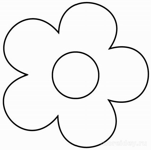 Шаблон цветка, цветок шаблон, раскраска цветочек