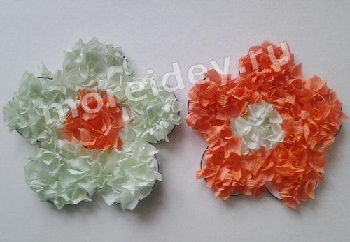 торцевание из гофрированной бумаги, поделка цветы: мастер класс с фото