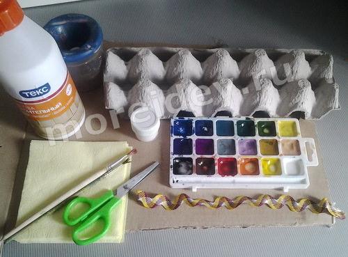 Упаковка из-под яиц поделки пошаговый мастер класс