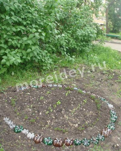 Поделка цветы для сада и огорода