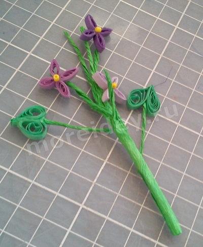 Поделка цветы из бумаги пошаговый мк с фото