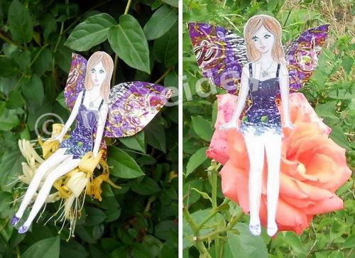 Картонная кукла - фея