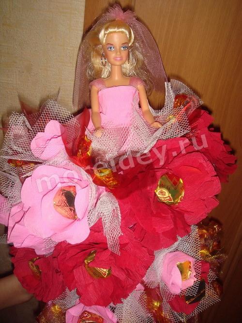 Кукла из конфет своими руками мастер-класс