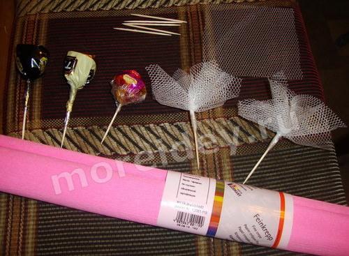 Кукла из конфет (букет из конфет)