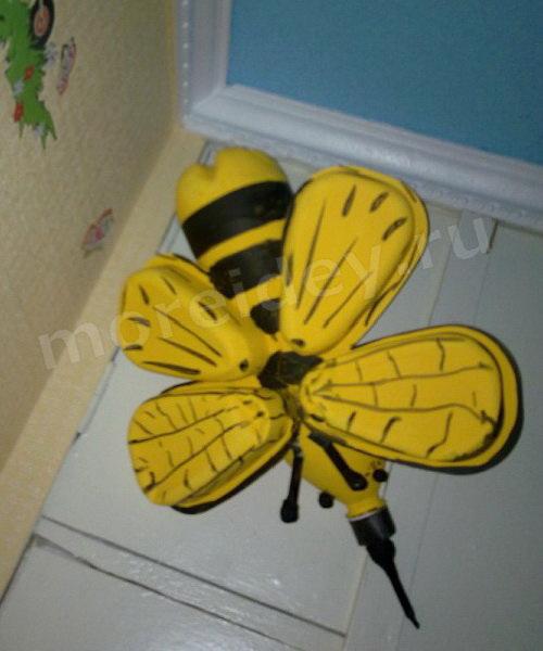 Поделки из пластиковых бутылок своими руками для сада дачи, мастер класс: поделка пчелка (фото)