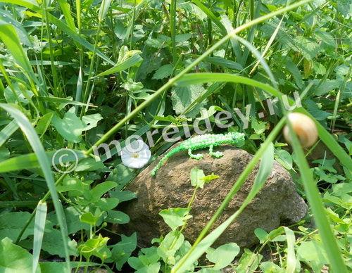 Бисероплетение: объемная ящерица