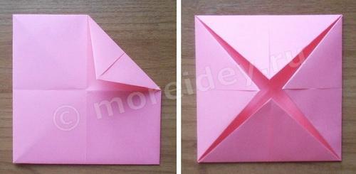 как делать оригами гадалку