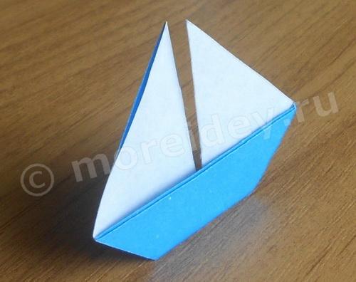 поделка оригами для начинающих: лодка с парусом своими руками