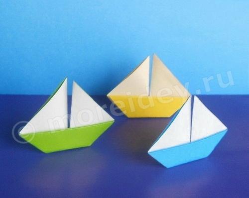 поделка кораблик оригами со схемой