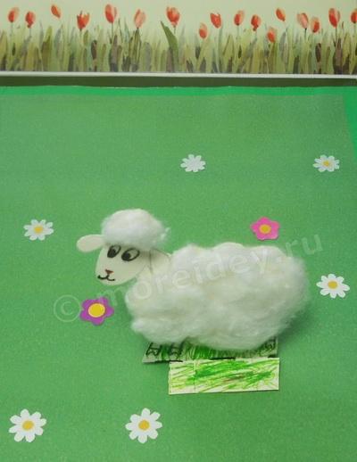 Поделки из ваты фото: поделка овечка или барашек