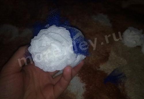 Поделка цветочный шарик: цветок из салфеток