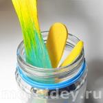 Поднимающаяся краска - опыт с цветом, красками и палочками от мороженого