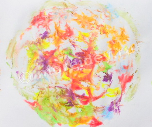 Монотипия для детей: рисунки на пене