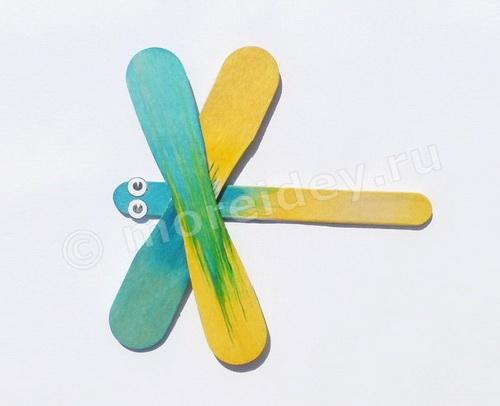 Простые детские поделки из палочек от мороженого
