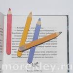 Поделки из деревянных палочек от мороженого - закладки - карандаши