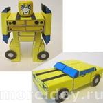 Роботы и игрушки-трансформеры из спичечных коробков