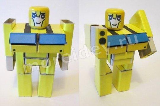 игрушка робот-трансформер своими руками