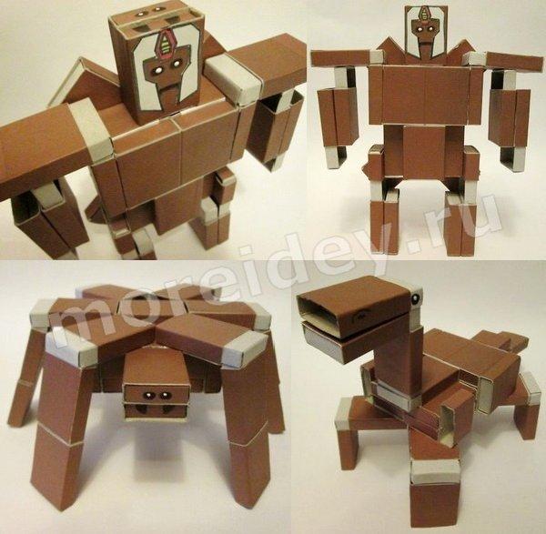 поделки из бросового материала своими руками: игрушка-трансформер