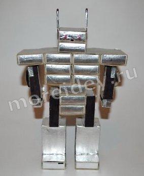поделки из бросового материала (из спичечных коробков): поделка робот своими руками