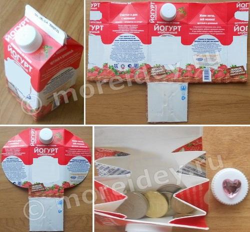 Кошелек из пакета от сока, молока или молочной продукции