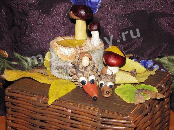 Осенние детские поделки своими руками из природного материала