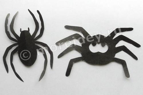 Симметричное вырезание: поделка паук из бумаги