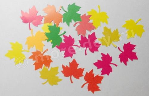 Кленовые листочки из цветной бумаги