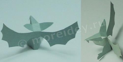 Животные из бумаги: летучая мышь