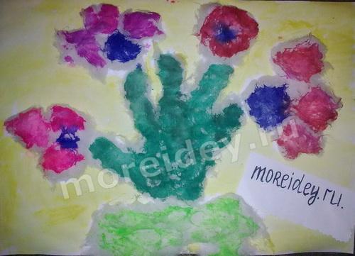 Поделки из детских ладошек: цветы