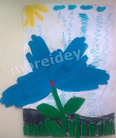 Рисование ладошками: рисунок цветок из ладошек