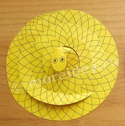 поделки из бумаги змея