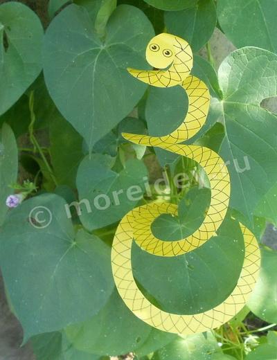 поделка змея из бумаги своими руками фото