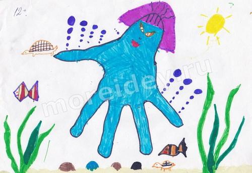 Детские рисунки ладошками