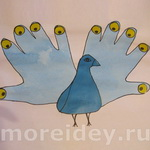 Птицы из ладошек