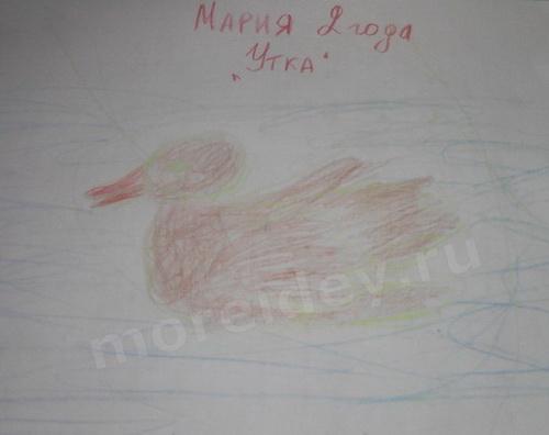 Птицы из ладошек: рисунок из ладошки утка