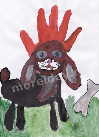 Собачка - детский рисунок