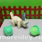 Козочка - детская поделка из пластилина