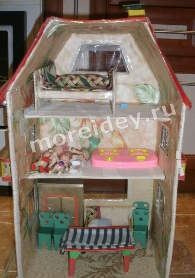 Дом для кукол своими руками из картонной коробки