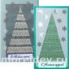 Новогодние открытки с елочками из кружев