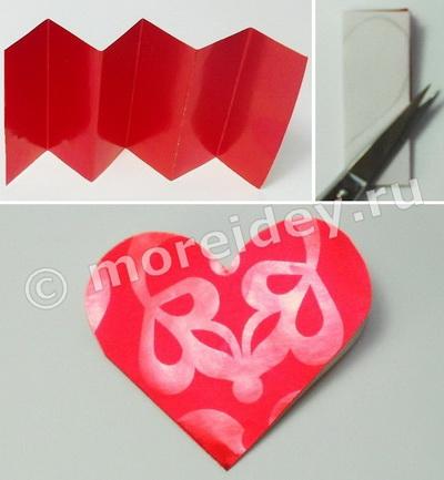 Объемная открытка - валентинка своими руками