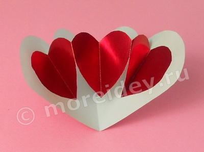 Необычная открытка ко дню святого Валентина своими руками