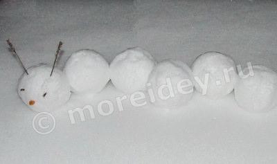 детские фигуры из снега