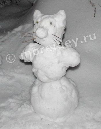 как сделать фигуры поделки из снега