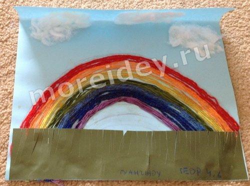 Детская аппликация радуга