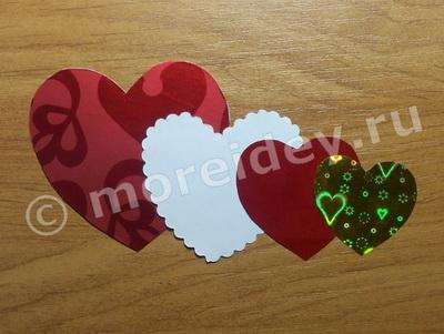 открытка - сердечко к 14 февраля своими руками